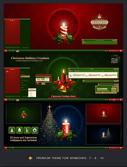 CHRISTMAS Windowblinds Premium Theme
