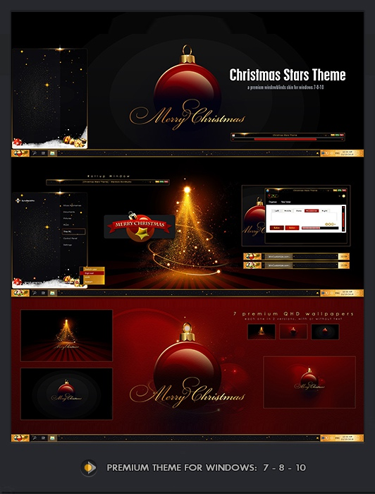 Christmas Windowblinds Theme