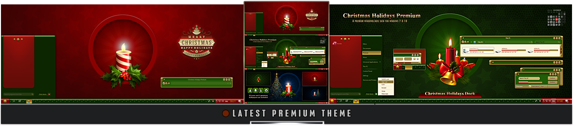 Premium CHRISTMAS Windowblinds Theme